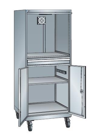 armoire informatique 1587x717x572 avec roue en nylon armoire. Black Bedroom Furniture Sets. Home Design Ideas